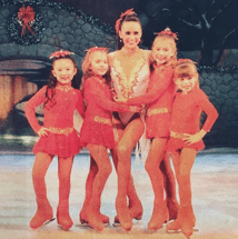 The four children performers, above, from Busch Gardens' Christmas on Ice! show skated in TBSA Countryside's winter recital.