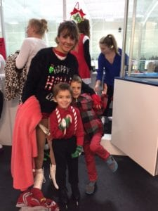 April Leighty with her two sons, Ian, 4, (in front), and Logan, 6.